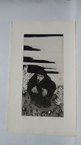 "Ben Zion "" The Life of A Prophet"" Etching XIII "" In The Desert"""