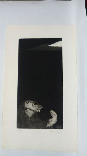 "Ben Zion "" The Life of A Prophet"" Etching XV "" From Whence Cometh My """