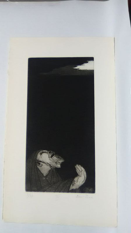 """Ben Zion """" The Life of A Prophet"""" Etching XV """" From Whence Cometh My """""""