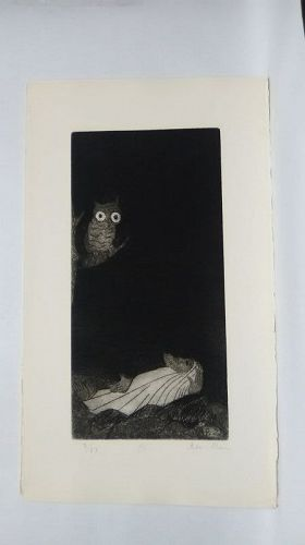 "Ben Zion "" The Life of A Prophet"" Etching XIV ""In  TheDark"""