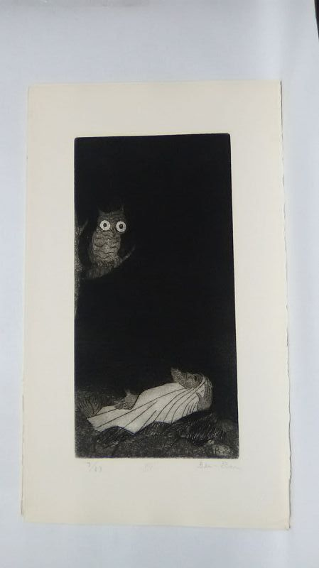 """Ben Zion """" The Life of A Prophet"""" Etching XIV """"In  TheDark"""""""