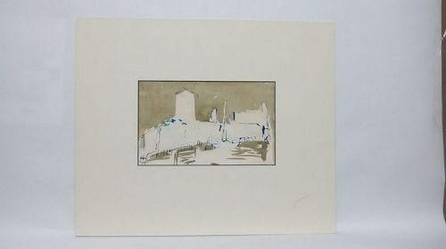 """Richard Faralla Watercolor """" The Great Mill Petaluma CA"""""""