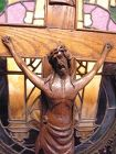 French or Dutch oak Crucifix c 1920s