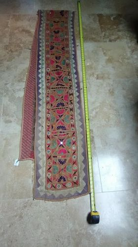Kutchi Banjara Gypsy Cotton and Silk Embroidery and Applique tapestry