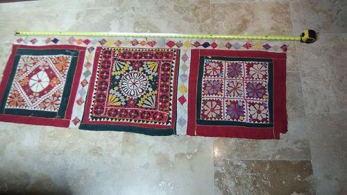 Kutchi Banjara Gypsy Cotton embroidery with Applique panel