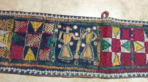 Kutchi Banjara Gypsy  Heavy Cotton Tapestry with Silk Embroidery v8