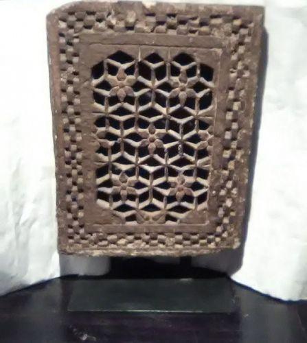 17th c Indian Stone Jali Window panel lamp