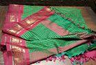 Fine Vintage Indian Silk Saree with gold thread