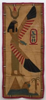 Egyptian Grand Tour Tapestry with applique
