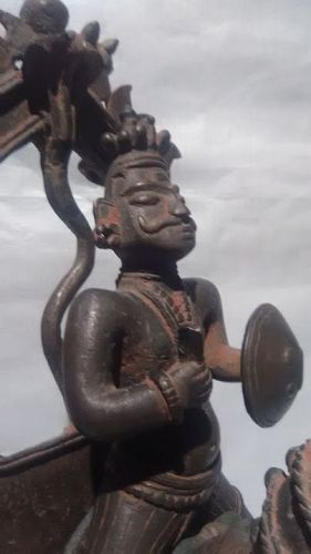 Fine Hindu Bronze figure of Khandoba 17thc v8