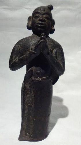 Hindu Chola Period Bronze figure of a Priest or Holy man