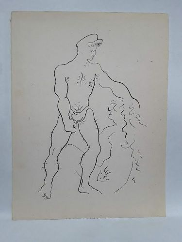 Querelle Limited edition homo erotic graphic by Jean Cocteau