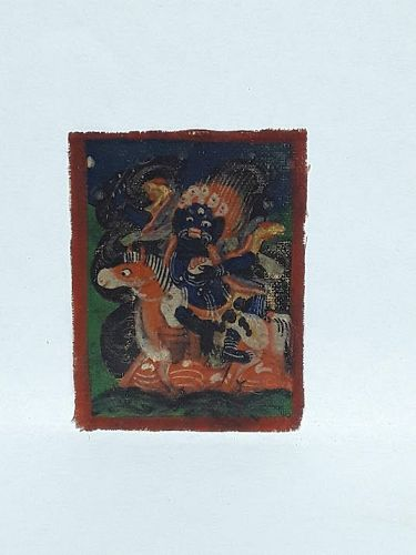 Antique Tsakli: Shri Devi miniature Tangka
