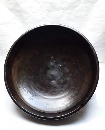 Large 19th c Indian Bronze Urli Cooking vessel UPS SHIPPING