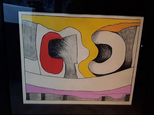 James Kelly 1913-2003 S F 1950s Abstract Limited edition graphic