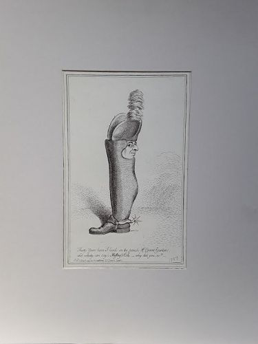 18th c English engraving published by Ms Hannah Humphrey