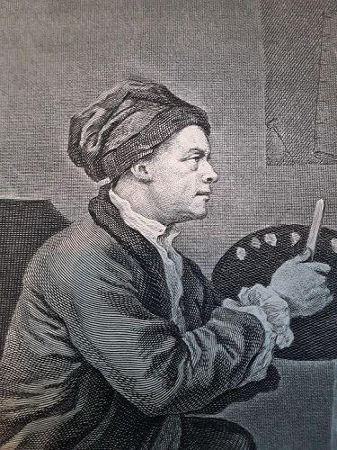 """William Hogarth"" Portrait of Hogarth with the Comic Muse Heath ed"
