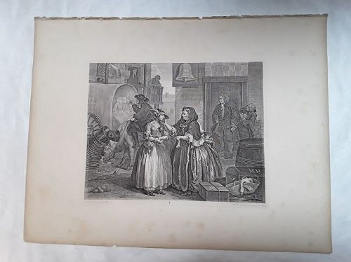 """William Hogarth"" A Harlot Progress suite 6 pieces Heath ed"
