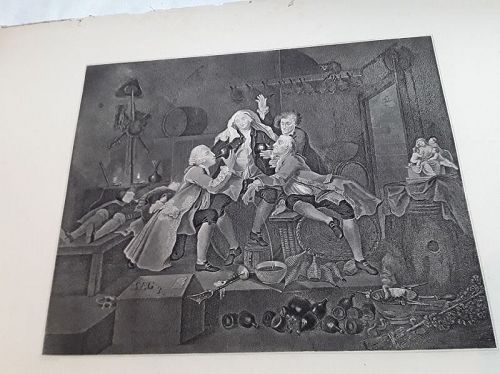 Charity in the Cellar  Engraved by Leney, after Hogarth's painting