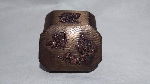 Japanese Meiji Mixed metal Box