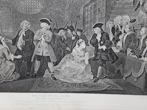 """William Hogarth"""" The Beggar's Opera, Act III"""" Trump Heath ed"""