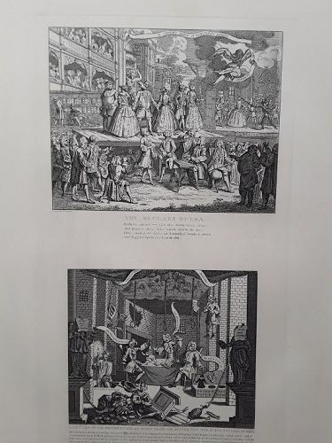 """Hogarth """"The Beggar's Opera"""" and """"A Just View of the British Stage"""""""