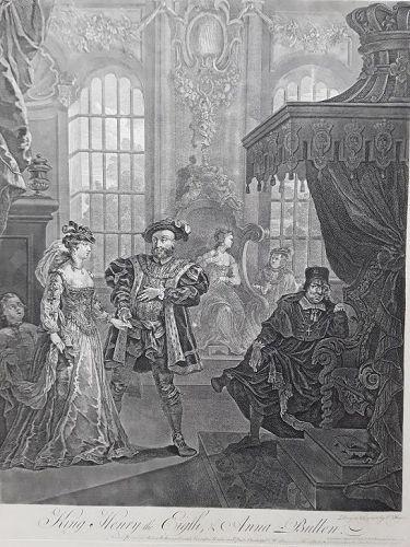 """William Hogarth"" King Henry the Eighth, & Anna Bullen Heath ed"