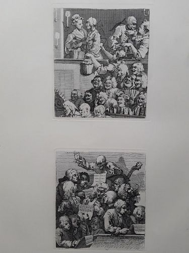 """William Hogarth"" ""The Laughing Audience"" and ""A Chorus of Singers"""