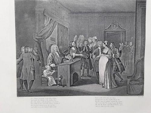 """William Hogarth"" Woman Swearing a Child to a grave Citizen Heath ed"
