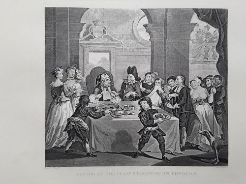 """""""William Hogarth"""" Sancho at the Feast, Starved by his Physician Heath"""