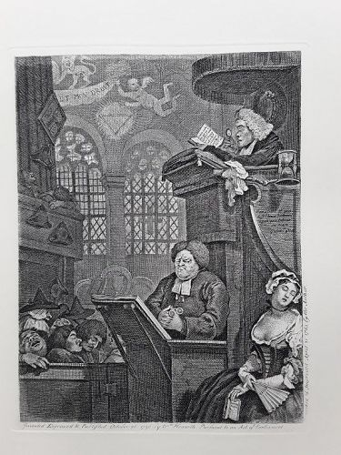 """William Hogarth"" The Sleeping Congregation Heath ed"