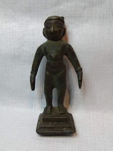 19th C. Indian Bronze Standing Hindu Figure of Chakravartin