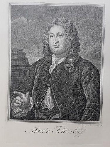 """""""William Hogarth"""" Martin Folkes, Esq. Heath ed"""
