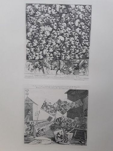 """William Hogarth"" Characters and Caricaturas,Battle of the Picures"