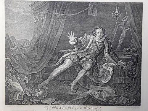 """William Hogarth"" Mr. Garrick in the character of Richard  Heath ed"
