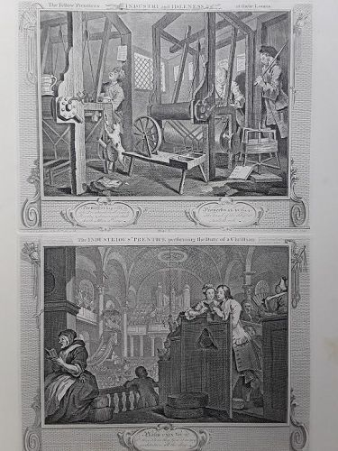 """William Hogarth"" Industry and Idleness suite Heath ed"