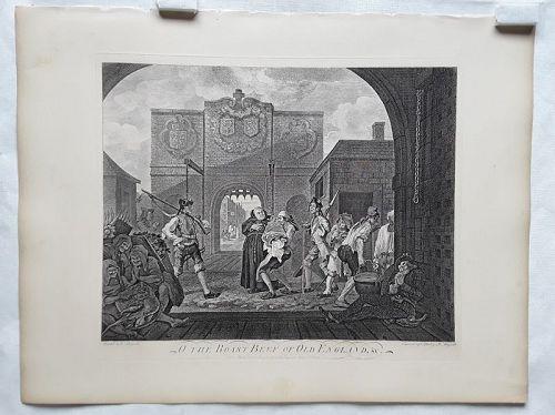 William Hogarth O The Roast Beef of England: The Gate of Cala Heath ed