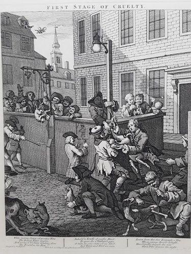William Hogarth The Stages of Cruelty suite Heath ed