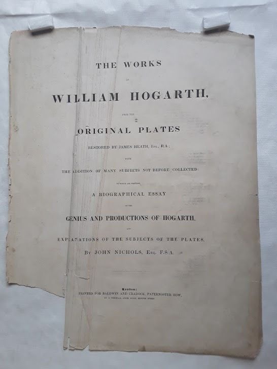 """William Hogarth"" Paul before Felix, Plate 3 Heath ed"