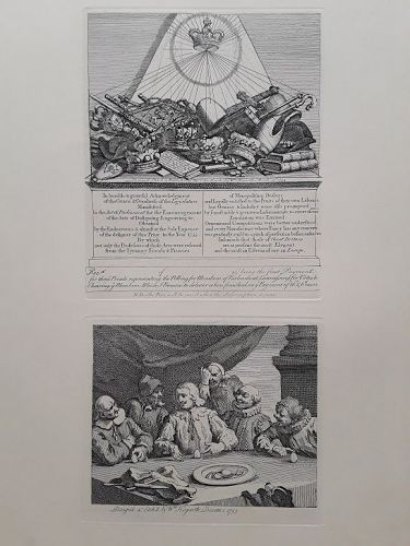 """William Hogarth"" Receipt for the Election Prints Heath ed"