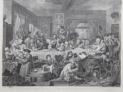 """William Hogarth"" Four Prints on an Election suite Heath ed"