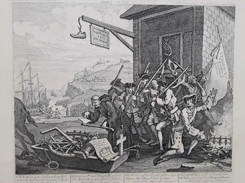 """William Hogarth"" The Invasion France England suite  Heath ed"