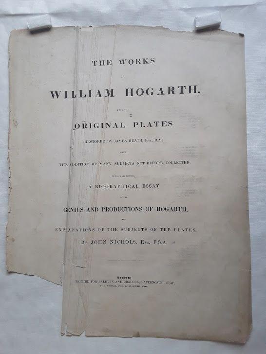 """William Hogarth"" Pit Ticket: The Cockpit Heath ed"