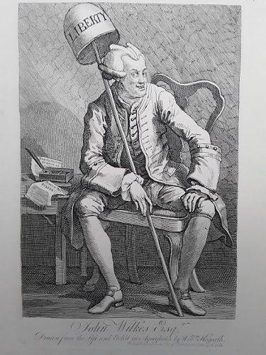 """William Hogarth"" Portrait of John Wilkes Heath ed"