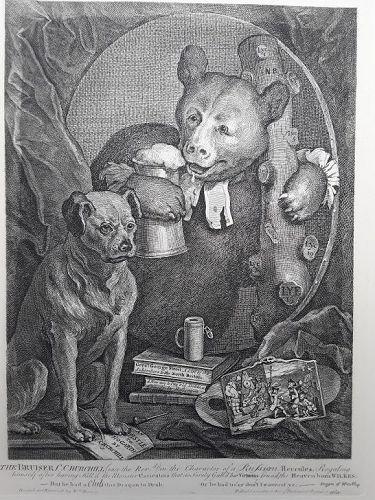 """William Hogarth"" ""Portrait of Charles Churchill The Bruiser Heath ed"