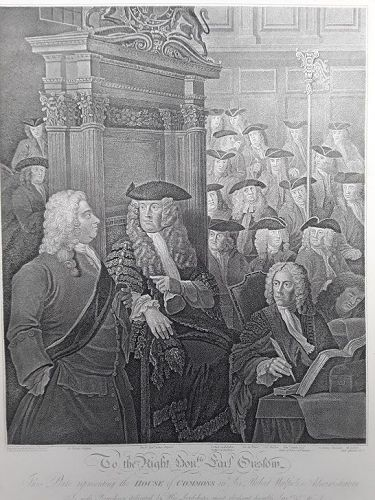 """William Hogarth"" The House of Commons in Sir Robert Walpole' Heath ed"