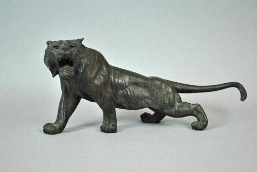 Japanese Bronze Okimono of a Tiger signed