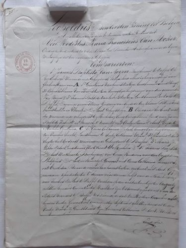 Royal hand written 8 Page letter by King Leopold of Belgium