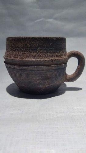 Korean United Silla Stoneware handled Cup c 700 Ad v0