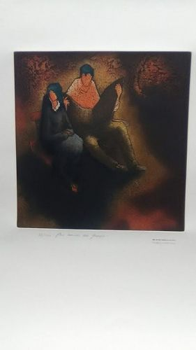 "Obra De Hans Suliman Grudzinski signed lithograph ""83"""